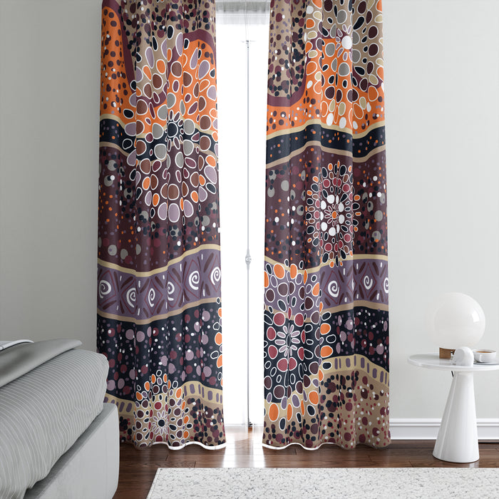 Boho Abstract Window Curtains