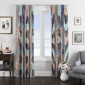 Boho Chic Window Curtains Earth Tones