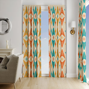 Mid Century Modern Window Curtains Retro Atomic