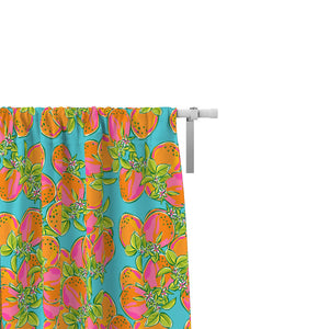 Tropical Fruit Salad Retro Theme Window Curtains