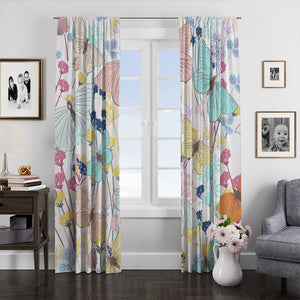 Boho Butterfly Window Curtains