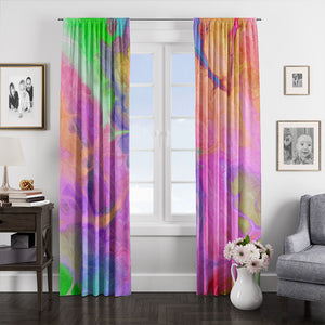 Bohemian Soul Swirl Marbled Window Curtains