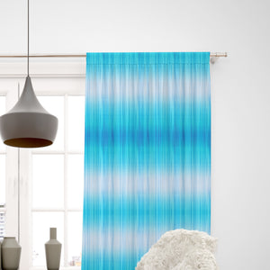 Beach Blue Tie Dye Window Curtain