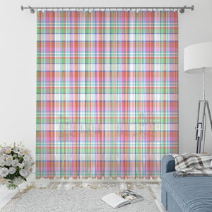 Summer Plaid Country Window Curtains