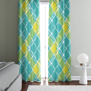 Coastal Plaid Window Curtains