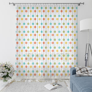 Midcentury Modern Lollipop Window Curtains