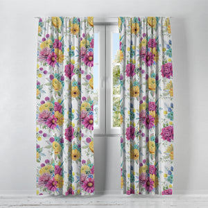 Larosa Floral Window Curtains