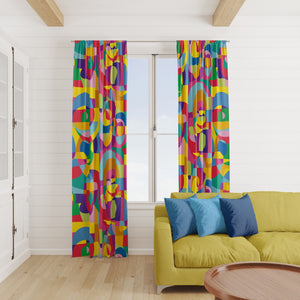 Eclectic Abstract Window Curtains