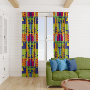 Modern Abstract Window Curtains