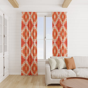 Peachy Boho Window Curtains