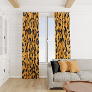 Leopard Print Window Curtains