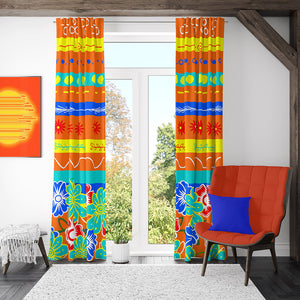 Orange Delight Modern Window Curtains