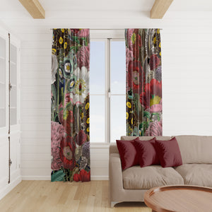 Vintage Jayne Floral Window Curtains
