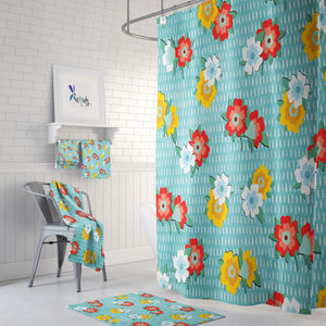 Meadow Wildflowers Shower Curtain Options Bathroom Decor