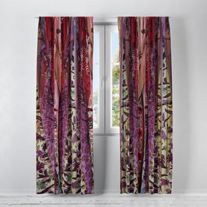 Boho Chic Window Curtains Gypsy Curtain Panels Blaclout, Sheers, Valances Available