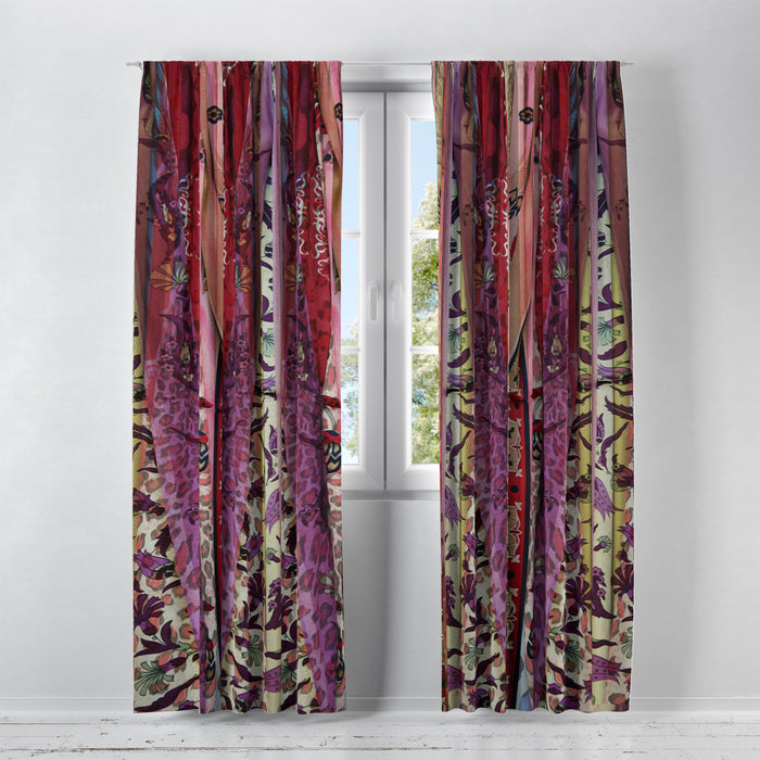 Boho Chic Window Curtains Gypsy Curtain Panels Blackout, Sheers, Valances Available