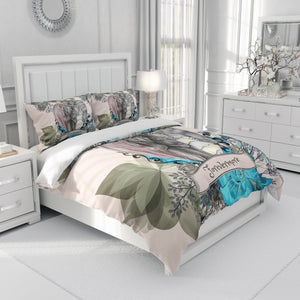 Love is Eternal Forevermore Skeleton Bedding