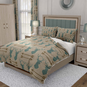 Rustic Deer Head Bedding Set