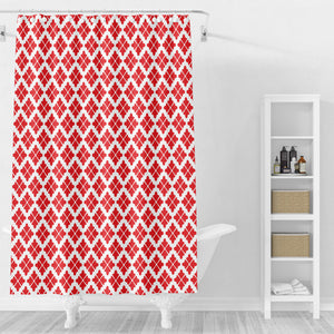 Prarie Daisy Red Shower Curtain Options Bathroom Decor