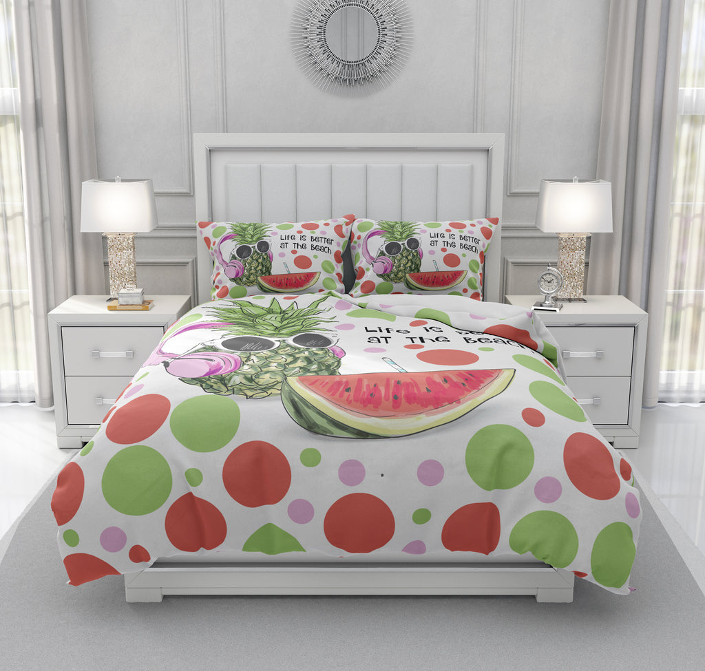 Beach Pineapple Bedding
