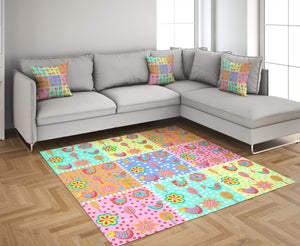 Folk Art Patchwork  Rug