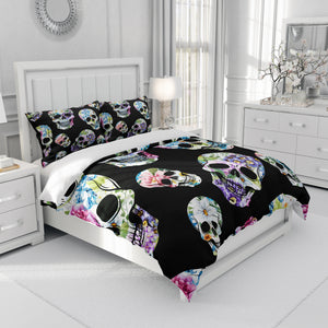 Sugar Skull Floral Bedding