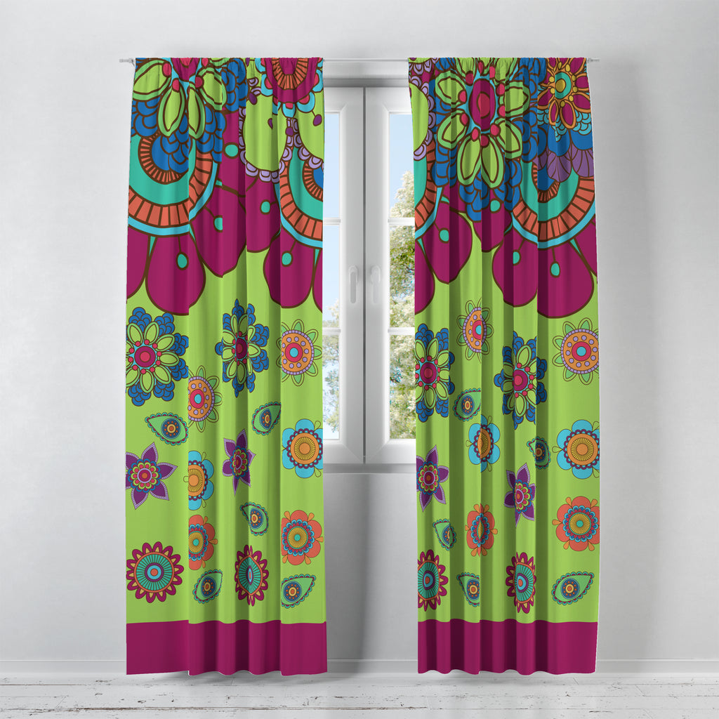 Blooms Floral Window Treatments, Custom Window Curtains, Window Valance