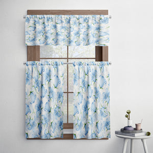 Granny Chic Bluebell Floral Cafe Style Curtains