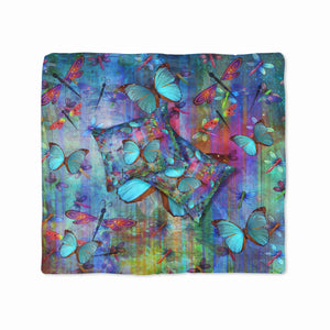 Blue Butterfly Dragonfly Bedding