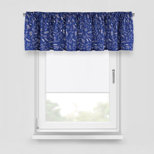 Farmhouse Window Treatments, Blue Country Floral, Lined Curtains, Window Valance