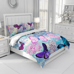 Butterflies and Sugar Skull Bedding