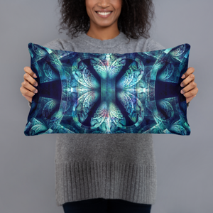 Boho Bohemian Blues Throw Pillows