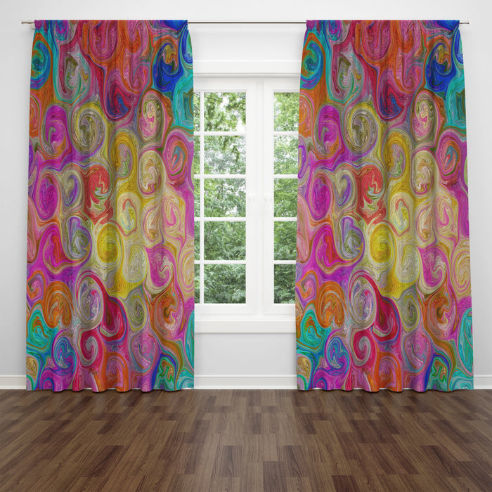 Mixed Emotions Abstract Window Curtains