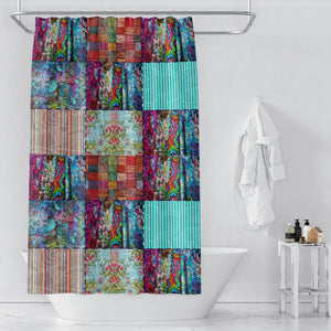 Boho Chic Gypsy Blocks 2 Shower Curtain