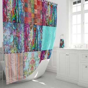 Boho Blocks Shower Curtain