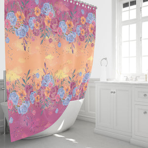 Boho Gypsy Floral Shower Curtain