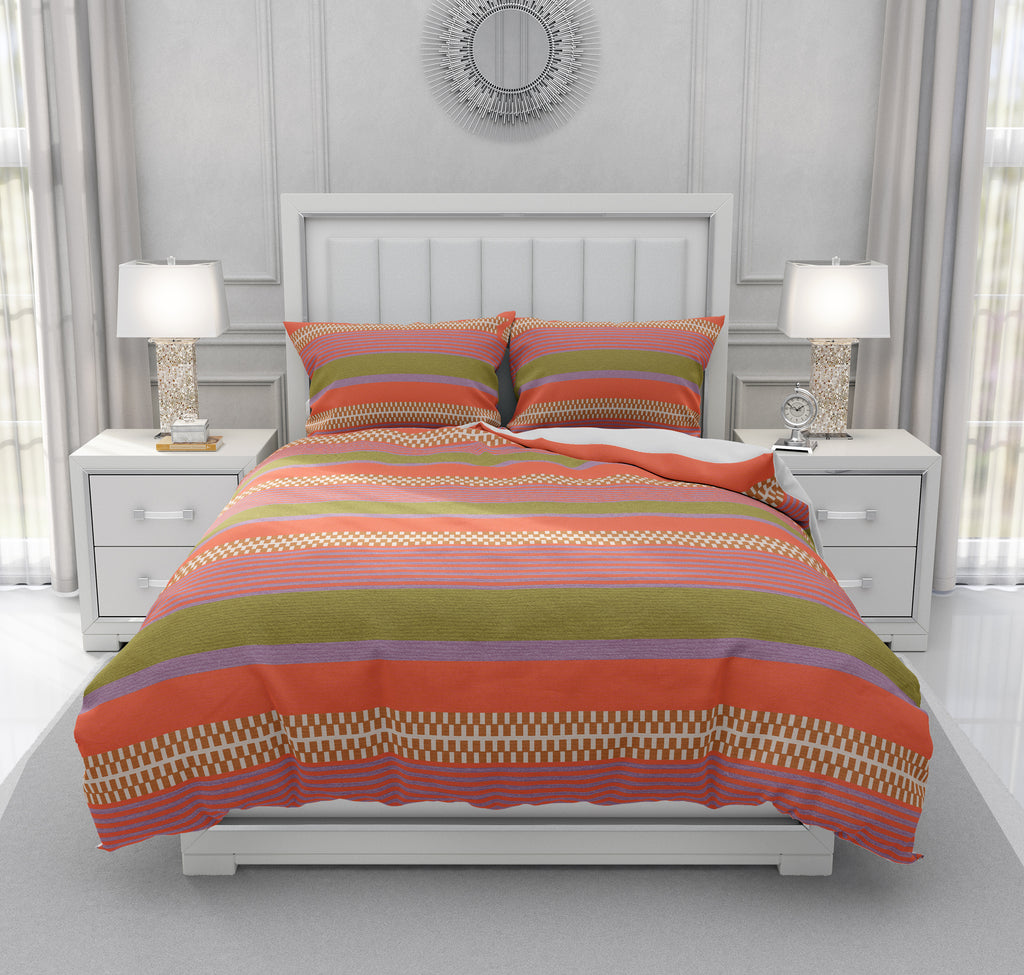 Classic Boho Striped Bedding