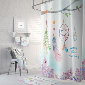 Boho Branch Dream Catcher Shower Curtain