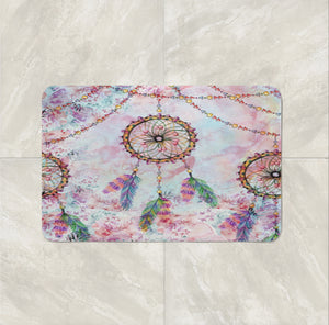 The Boho Chic Floral Dream Catcher Bath Mat