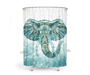 Brokeh Elephant Shower Curtain