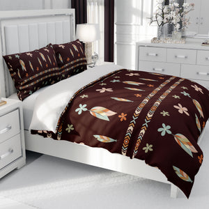 Brown Boho Tribal Bedding