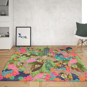 Butterfly Patchwork Rug