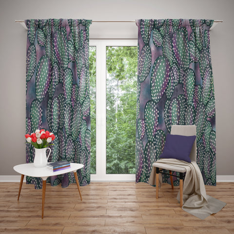 Cactus Window Curtains