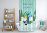 Retro Camper Shower Curtain