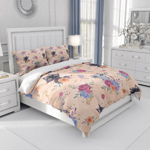 Adorable Cats and Roses Bedding