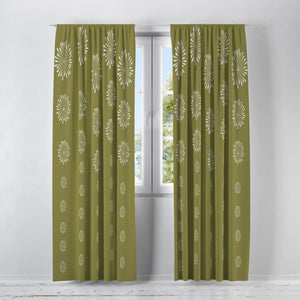 Mod Chartreuse Window Treatments, Custom Window Curtains, Window Valance