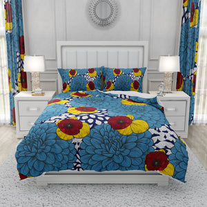 Painted Dahlia Floral Bedding Set Comforter or Duvet