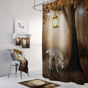 Woodland Deer Shower Curtain