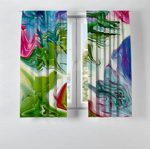Boho Chic Window Curtains Desert Winds Abstract
