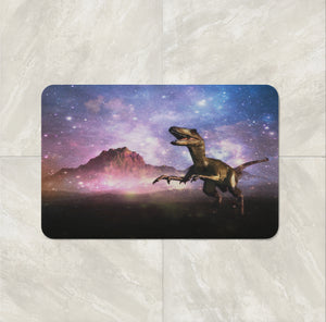 The Dinosaur In Space Bath Mat